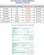 Non-Hazardous Waste Manifest Continuation Sheet (Snap-Out) Sold in ...
